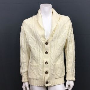 Vintage Kings Road Ivory Cardigan Sz Large Sears